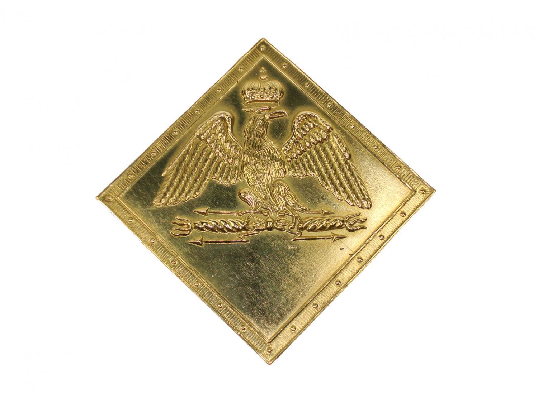 Empirecostume r glement de 1806 1810 plaque de shako - Plaque de laiton ...