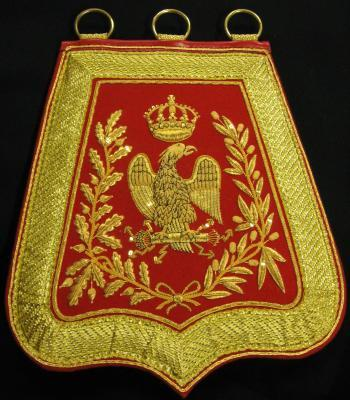 Officier de hussard Empire (lieutenant à chef d'escadron) - Sabretache type